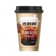 香飘飘2拼奶茶黑糖珍珠果+红小豆 90g*30